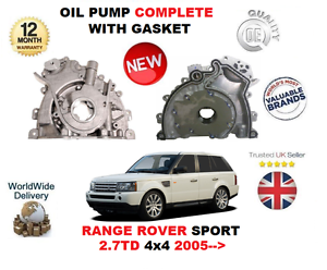 FOR RANGE ROVER SPORT 2.7TD 276DT 4X4 2005-/> NEW OIL PUMP COMPLETE WITH GASKET