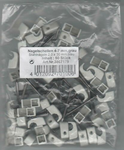 Nagelschellen-cascabeles 4-7 mm con agujas de acero 50 unidades