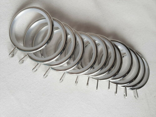 12 Curtain Rings for 28mm Poles Metal Lined Curtain Rings From Swish Elements