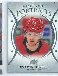 Warren-Foegele-18-19-UD-Portraits-Rookie-Card-P56-Free-Combined-Shipping