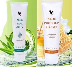 Aloe-Vera-Gelly-amp-Creme-Propolis-pour-Visage-et-Corps-Skin-Cream-Forever-NEUF