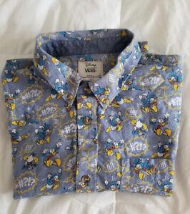 XL L Disney Mens Donald Duck Button-Up Shirt New M