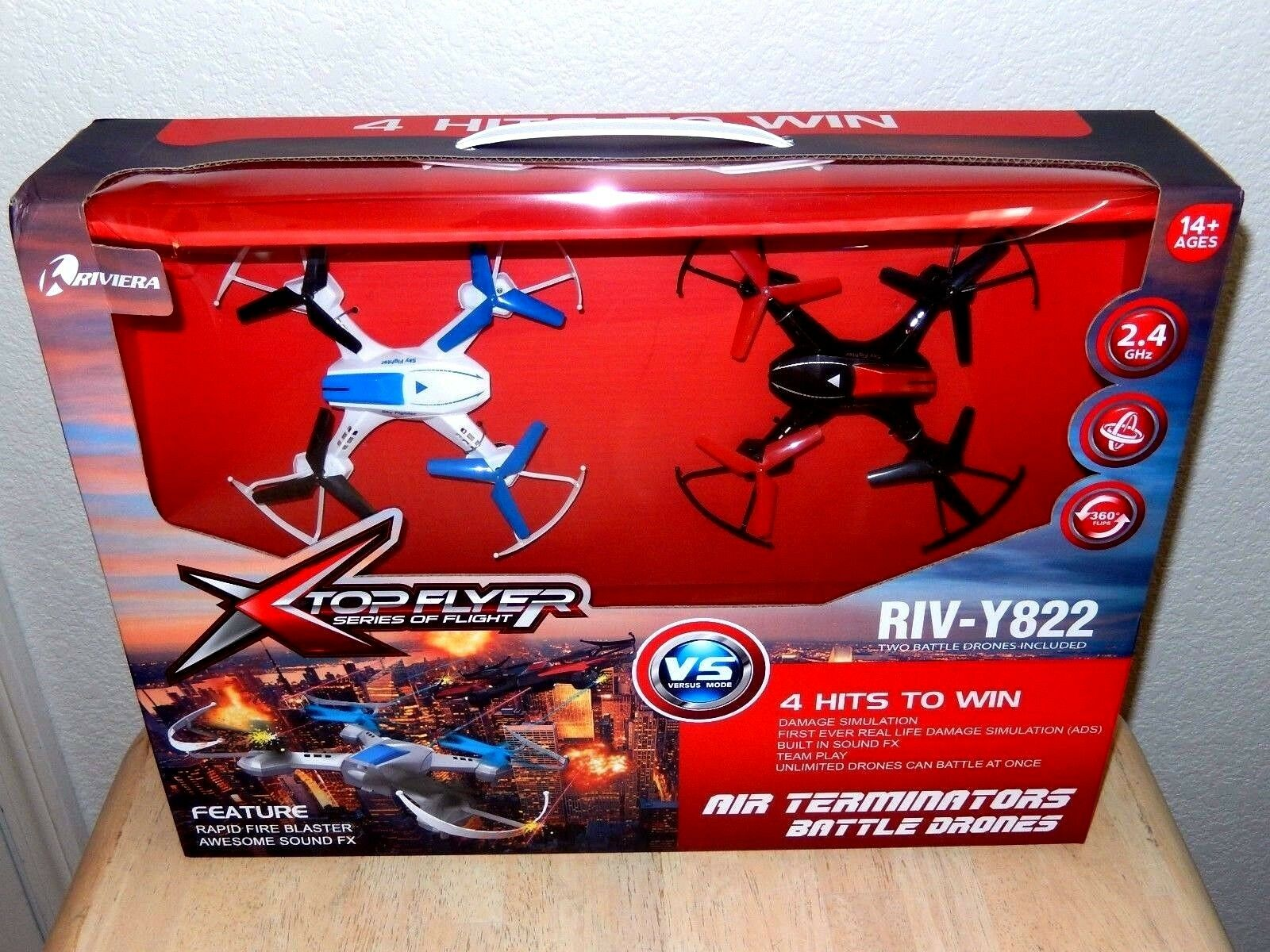 Riviera Air Terminators Flying Battle Drones-set of 2-Rapid Fire, Awesome Sound