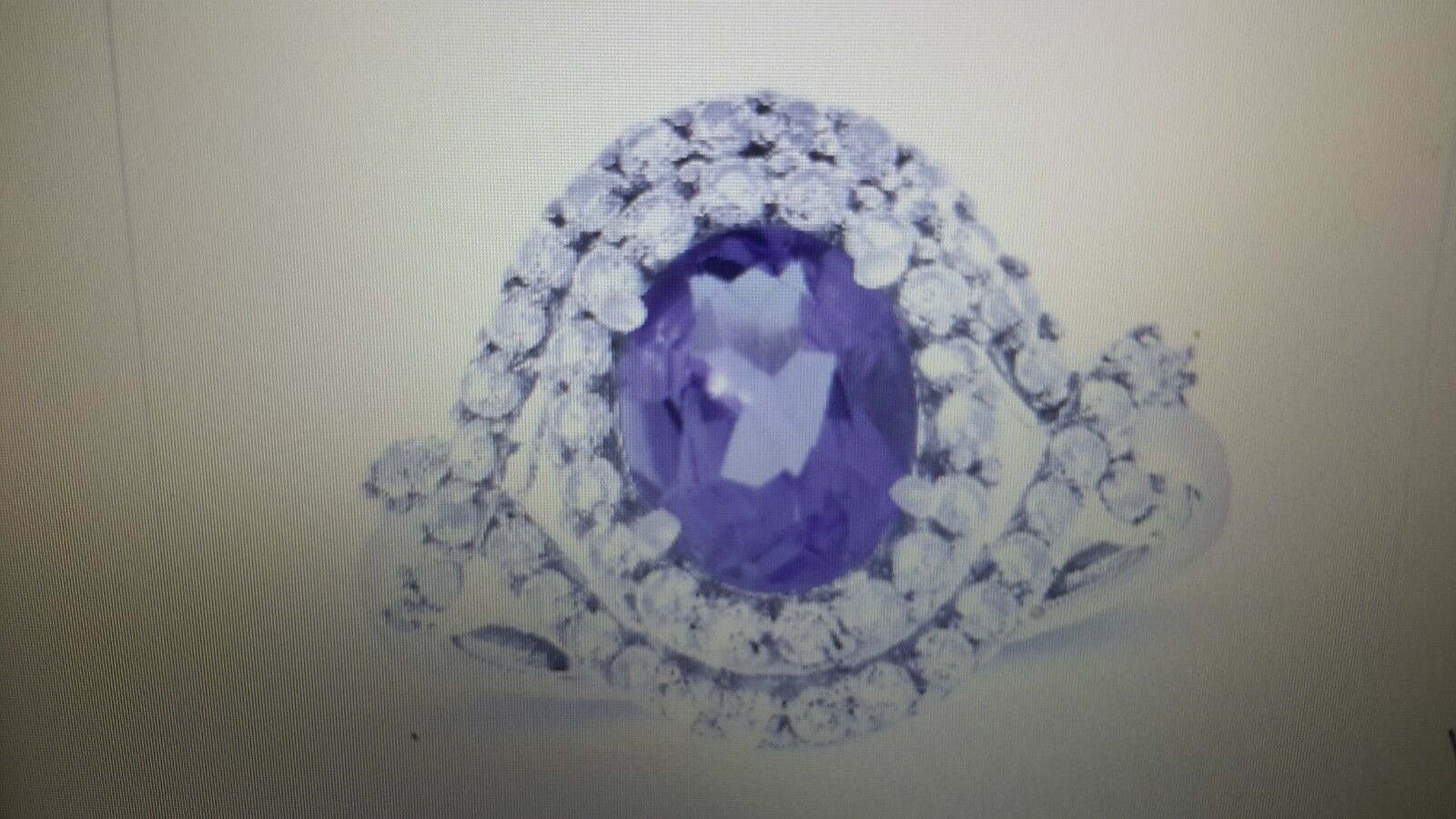 Beautiful purple Collection Amethyst & White Topaz Ring Size 8