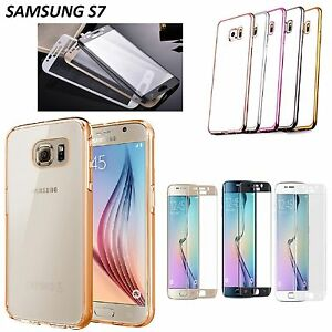 Cover-Silicone-con-Bordi-Cromati-Pellicola-Vetro-Curvo-3D-per-Samsung-S7-G930