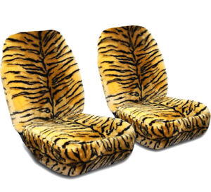 Image Is Loading RELIANT ROBIN FURRY GOLD TIGER FRONT CAR SEAT