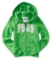 Kids Ps Aeropostale Girls Size 7 8 Zip-front Ps09 Green Sweatshirt Hoodie