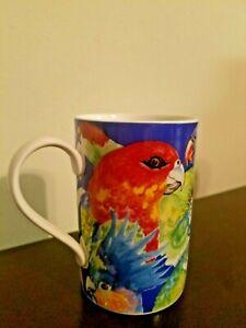 Dunoon-Parrots-coffee-tea-Mug-Caribbean-by-Jane-Brookshaw