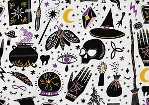 A1-Witchcraft-Pattern-Poster-Art-Print-60-x-90cm-180gsm-Witch-Moth-Gift-15385