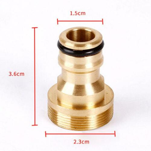 Solid Brass Threaded Hose Water Pipe Connector Kitchen Tube Tap Adaptor