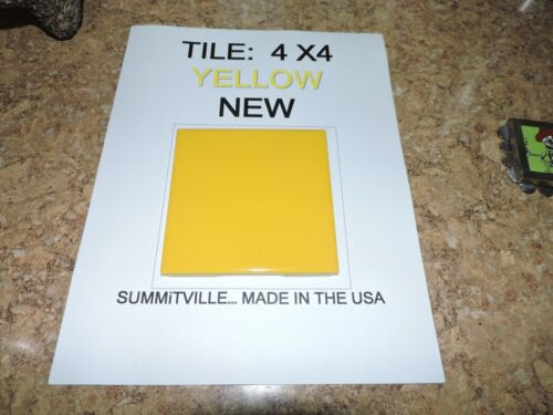 SUMMiTVILLE VINTAGE NEW TILE..4 x 4..YELLOW..LOT OF 10 PIECES