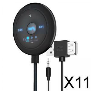 11X FM Bluetooth 5.0 Sender 87,5 / 95,0 / 108,0 MHz Frequenzbereich für Auto TV