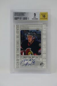 1998-99 SP Authentic Sign of the Times Marian Hossa AU 🔥Beckett 9 MINT