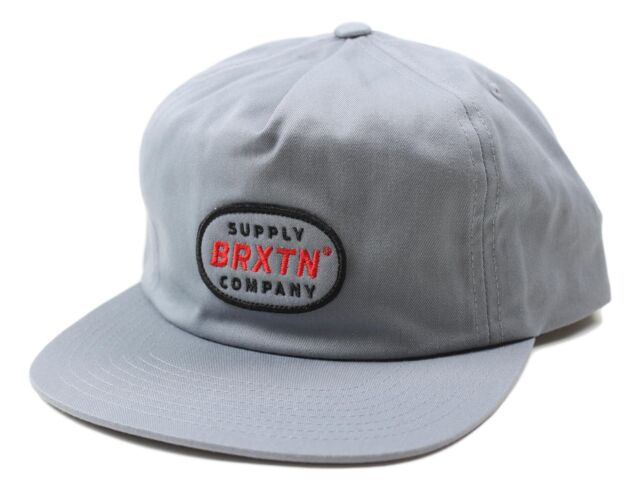 outlet store 7926f 07407 ... italy brixton mens zander hp snapback hat grey one size new ac005 0259c