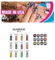 12 Pcs Adoro Color Acrylic Powder Glamour Collection Like Mia Secret