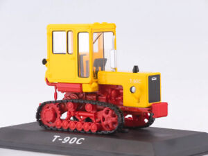 T-90-S-Caterpillar-Tractor-Soviet-Farm-Vehicle-1986-Year-1-43-Scale-HACHETTE-Toy