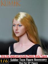 1:6 KUMIK Accessory Action Figure Long Blond Girl Painted Ver. Head KM048_NP