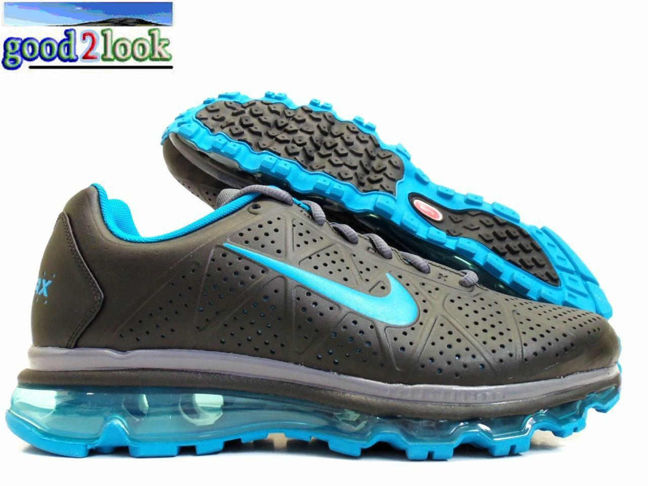 NIKE AIR MAX+ 2011 2011 MAX+ LEA BLACK/NEO TURQ SIZE WOMEN'S 11.5/MEN 10 [456326-011] 2de67a