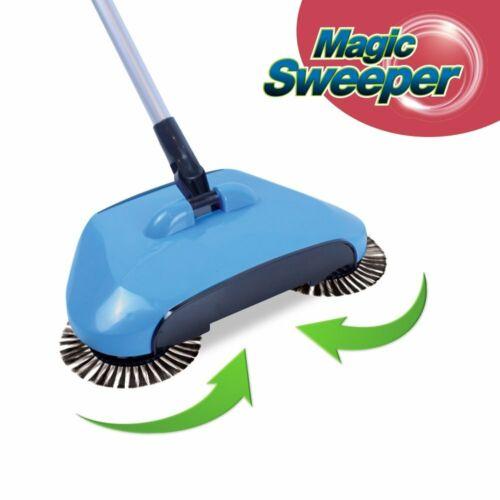 2 x Magic Sweeper Automatischer Besen mit drei rotierenden Bürsten