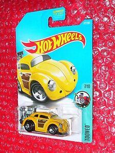 Hot Wheels 2017 Tooned Series #172 Volkswagen Beetle Yellow