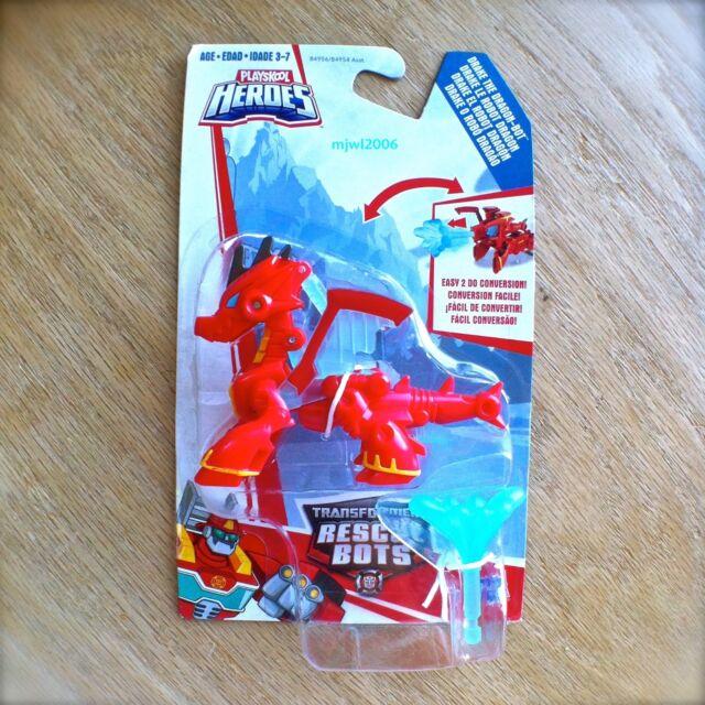 Playskool Heroes Transformers Rescue Bots Drake The Dragon Bot Figure new