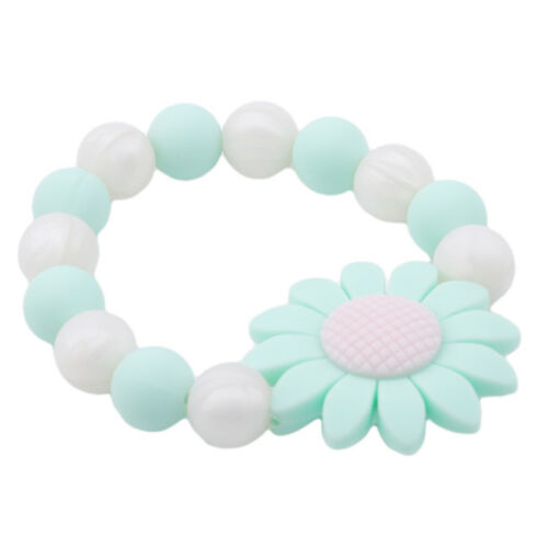 Silicone Chew Biting Bracelet Baby Teething Teether Bangle Chewy Beads G