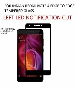 New Full Coverage Screen Tempered Glass For Xiaomi Mi Redmi Note 4 / Back Cover