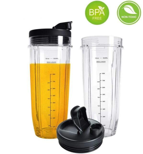 2 Pack Replacement Cups 18 Oz for Ninja BN801
