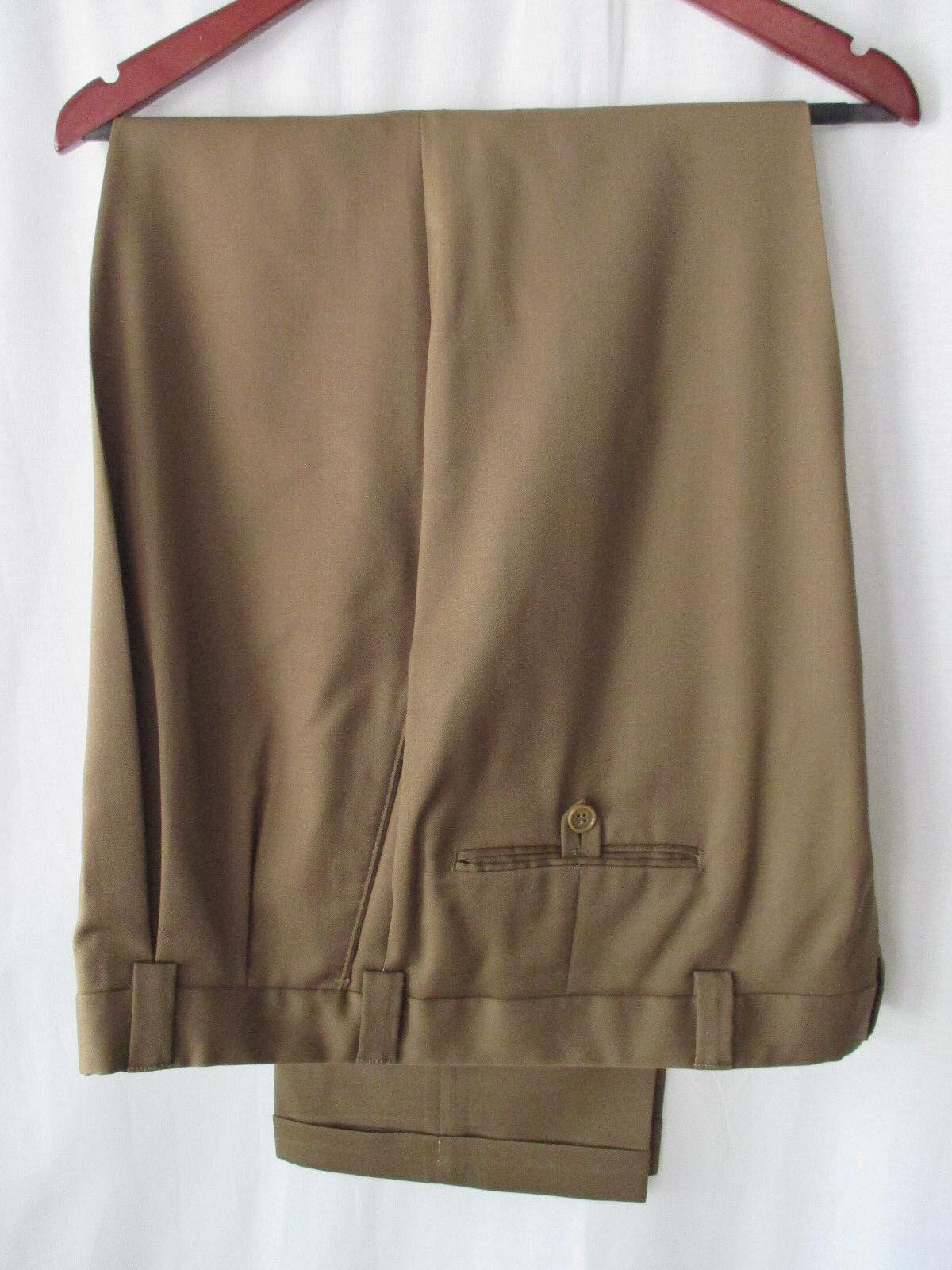 Murano Men's Dress Pants 40x32 Brown Polyester