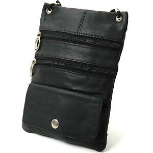 Soft-Leather-Purse-Organizer-Shoulder-Bag-4-Pocket-Micro-Handbag-Travel-Wallet