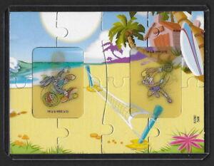 Jouet kinder Looney Tunes puzzle 2D UN079 France 2010 + étui de protection +BPZ jlE5pZmr-09093232-569319812