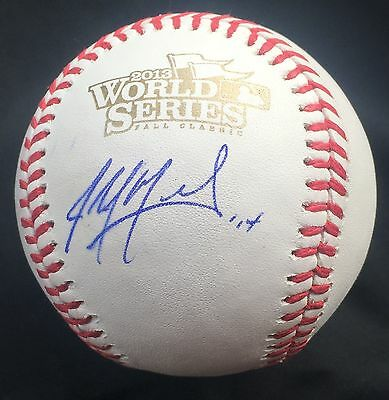 Straightforward John Mozielak Signed 2013 World Series Baseball St Louis Cardinals Coa J7 Matching In Colour Balls