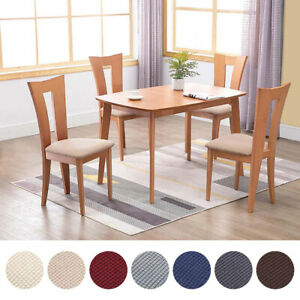 Dining Room Chair Seat Covers Removable Seat Cushion Stretch Slipcover Protector Ebay