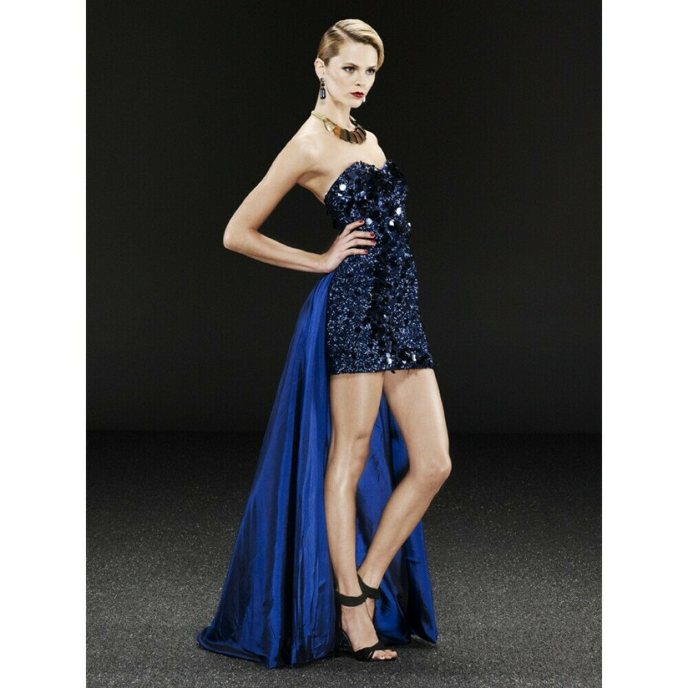 NEW Jovani   500 Navy Prom Formal Size 2 Cruise Sequins Long Gown NWT Dress NWT