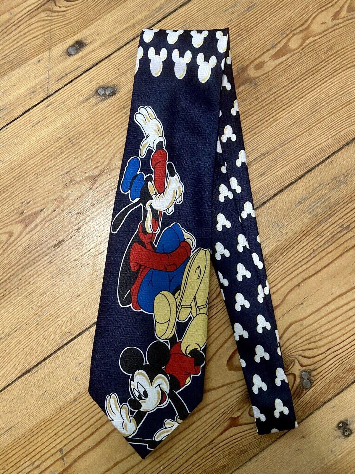Disney Mickey Goofy Micky Maus Seidenkrawatte Krawatte Schlips Seide BLITZVERSND
