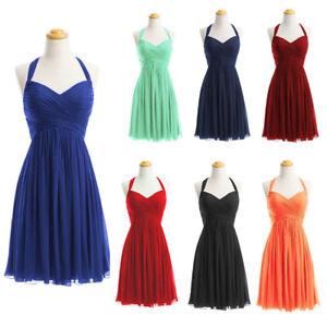 finest selection f75ce 3052a Details zu Neu Chiffon Kurze Abendkleider Ball kleider Formale Homecoming  Kleider Gr:32-50