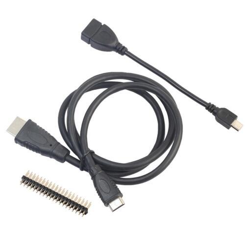 Mini HDMI to HDMI+Micro USB Cable Male Header GPIO Pins for Raspberry Pi Zero W