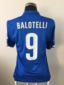 362176001 Image is loading BALOTELLI-9-Italy-Home-Football-Shirt-Jersey-2014-