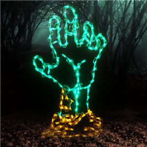 Spooky-Halloween-Zombie-Hand-Outdoor-LED-Lighted-Decoration-Steel-Wireframe