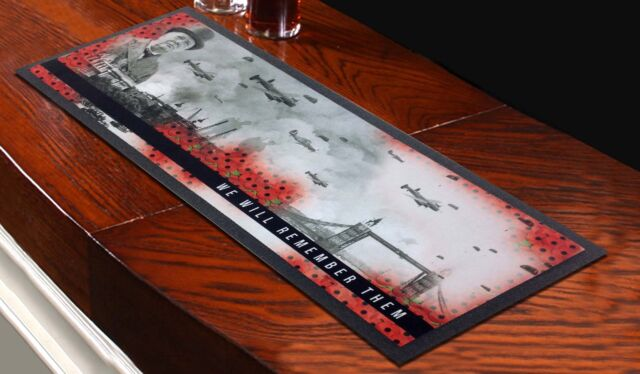 We Will Remember Them WW2 Bar Runner *DONATION TO POPPY APPEAL EVERY SALE*
