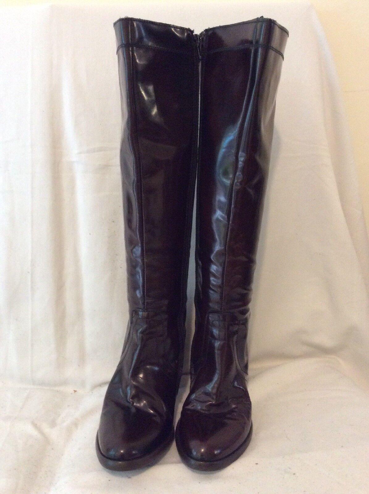 TT Bagatt Braun Knee Größe High Leder Stiefel Größe Knee 38 7b7efc
