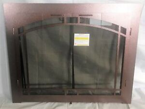 Stoll Glass Fireplace Bi Fold Arched Doors Burnished