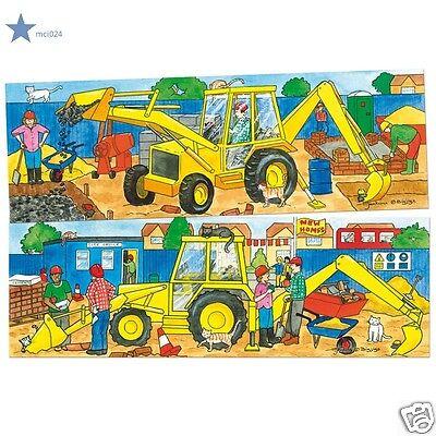 Jouer au Puzzle Tractopelle Neuf** éducatif 2 Puzzles en bois 2 à 4 ans