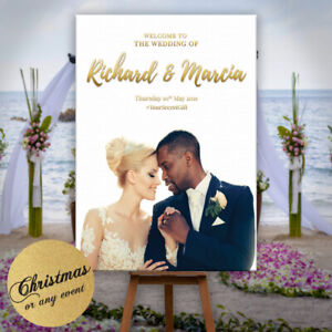 Personalised-Welcome-To-Our-Wedding-Sign-Poster-Photo-Christmas-Party-Any-Event