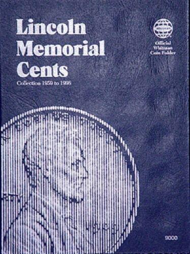 2 Whitman Coin Folders Set Collection Lincoln Memorial Cents Nos.1-2 1959-2008