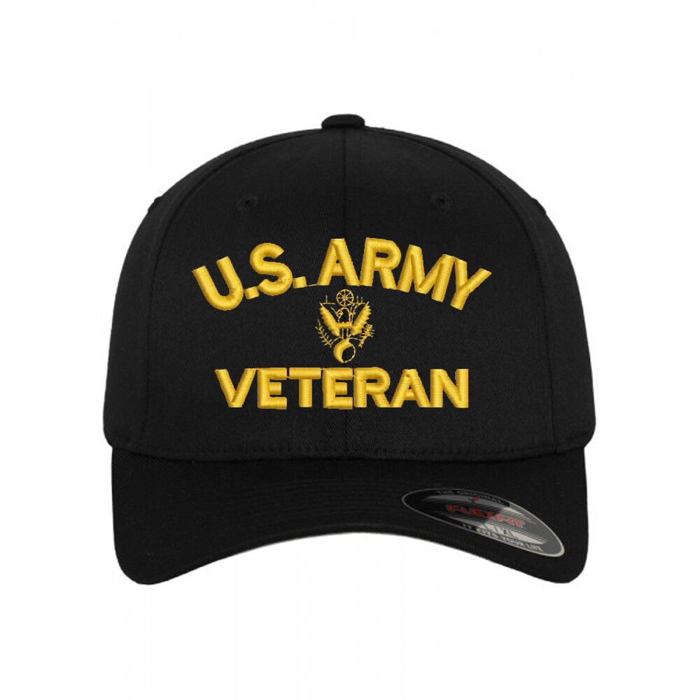 Flexfit BASEBALL CAP U.S. ARMY VETERAN U.S. ARMY VET VET VET Military Cap Hat 995e67