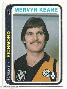 1979-Scanlens-125-Mervyn-KEANE-Richmond-034-034