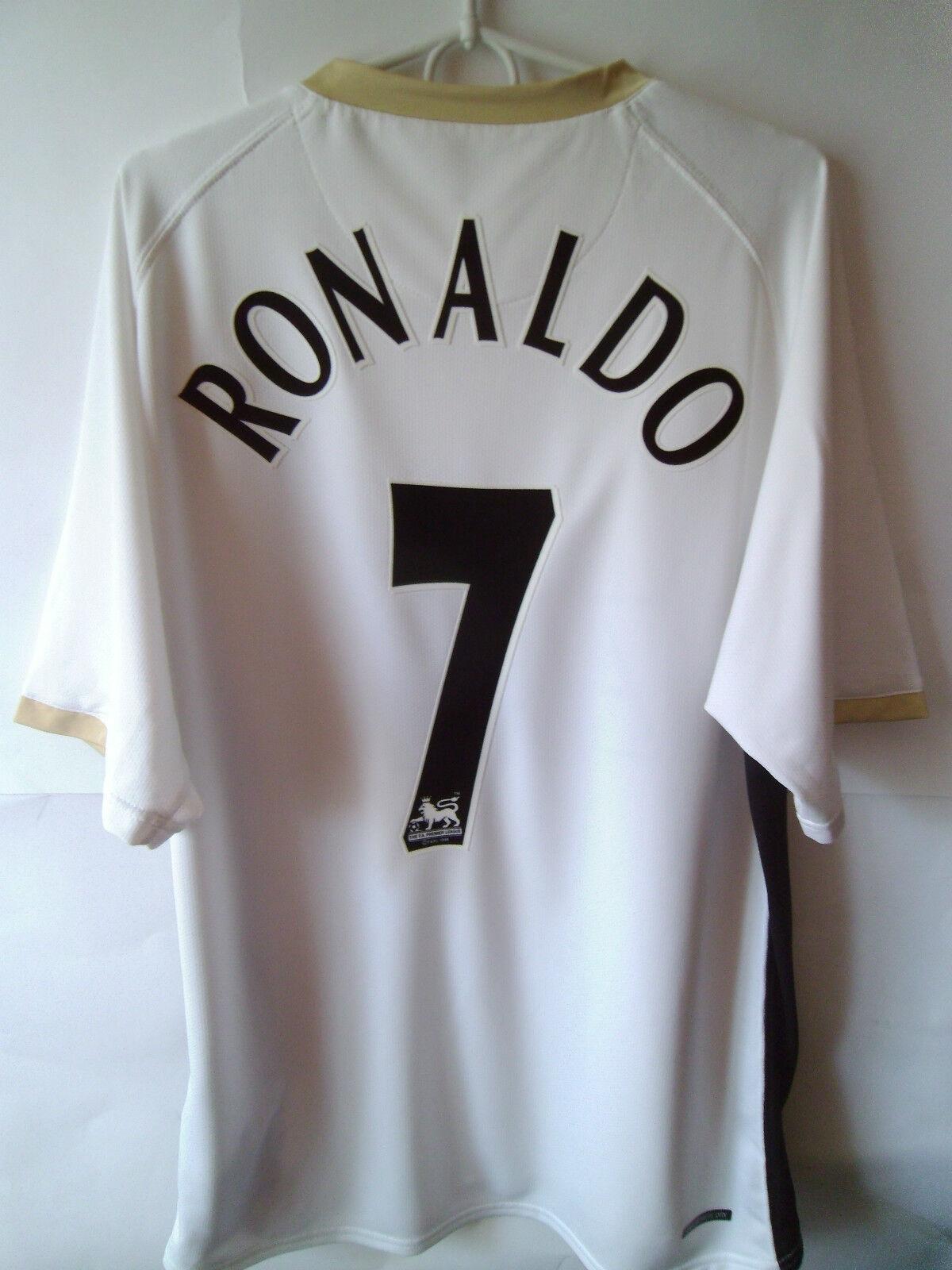 RARE   EXCELLENT      RONALDO     2006-08 Manchester United Away Shirt Trikot XL 77f885