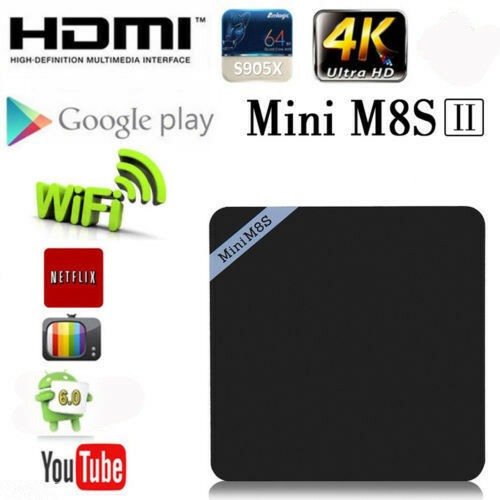 Mini M8S II TV BOX Set-top Box Amlogic S905X Android 6.0 Smart Media Player VIP Featured