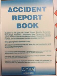 Details about Accident Report Book ARB/8REC Syam